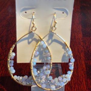 Francesca's Beaded Teardrop Earrings